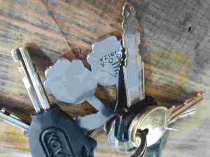 keyring house key car key